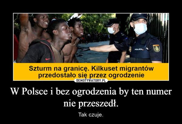 W Polsce i bez ogrodzenia by ten numer nie przeszedł. – Tak czuje.