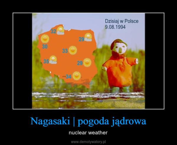 Nagasaki | pogoda jądrowa – nuclear weather