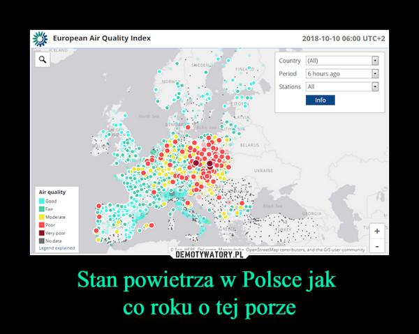 Stan powietrza w Polsce jak co roku o tej porze –