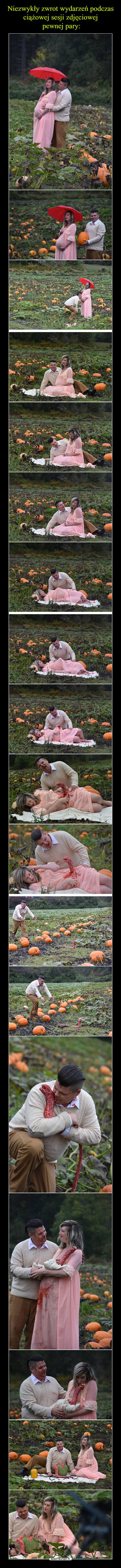 Niezwykły zwrot wydarzeń podczas ciążowej sesji zdjęciowej  pewnej pary: