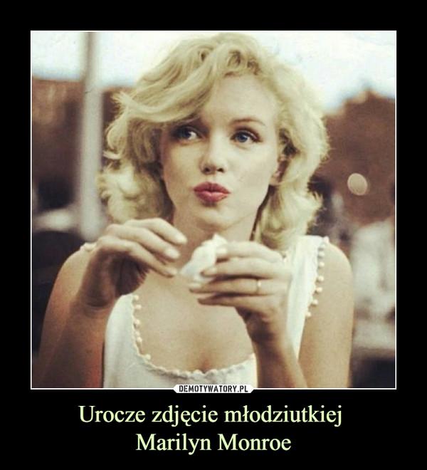 Urocze zdjęcie młodziutkiej Marilyn Monroe –
