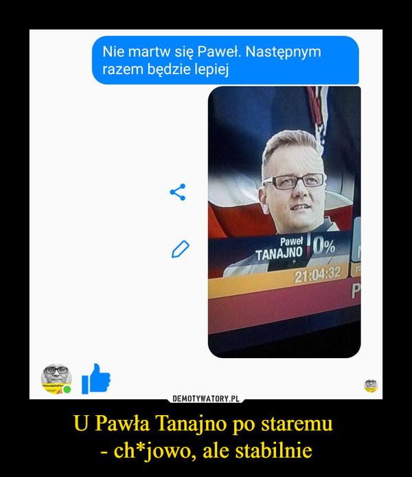 U Pawła Tanajno po staremu - ch*jowo, ale stabilnie –
