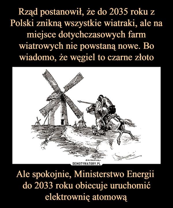 Ale spokojnie, Ministerstwo Energii do 2033 roku obiecuje uruchomić elektrownię atomową –