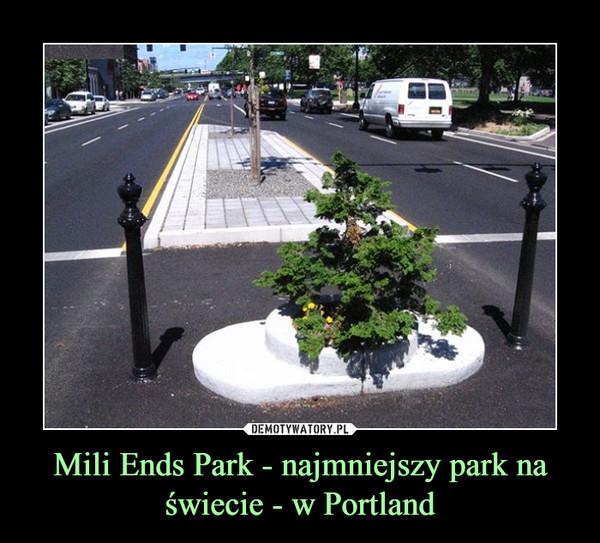 Mili Ends Park - najmniejszy park na świecie - w Portland –