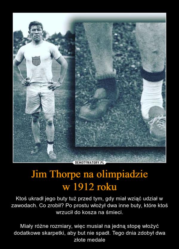 Jim Thorpe na olimpiadzie w 1912 roku