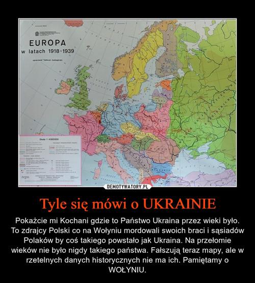 Tyle się mówi o UKRAINIE