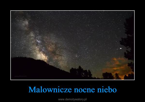Malownicze nocne niebo –