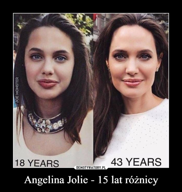 Angelina Jolie - 15 lat różnicy –