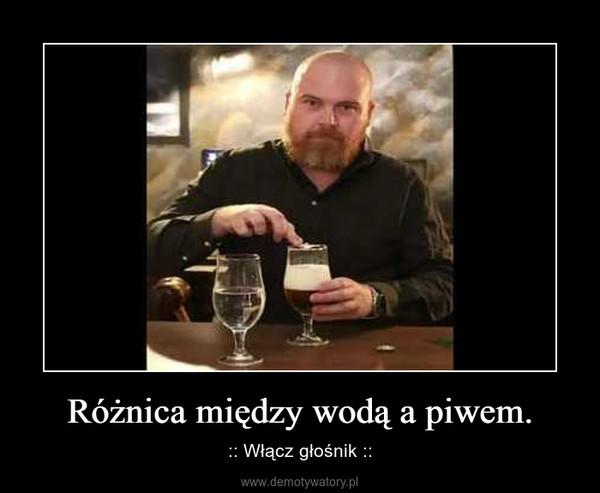 Różnica między wodą a piwem. – :: Włącz głośnik ::