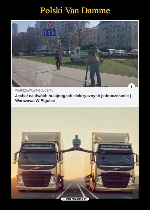 –  Jechał na dwóch hulajnogach elektrycznych jednocześcnie I Warszawa W Pigułce