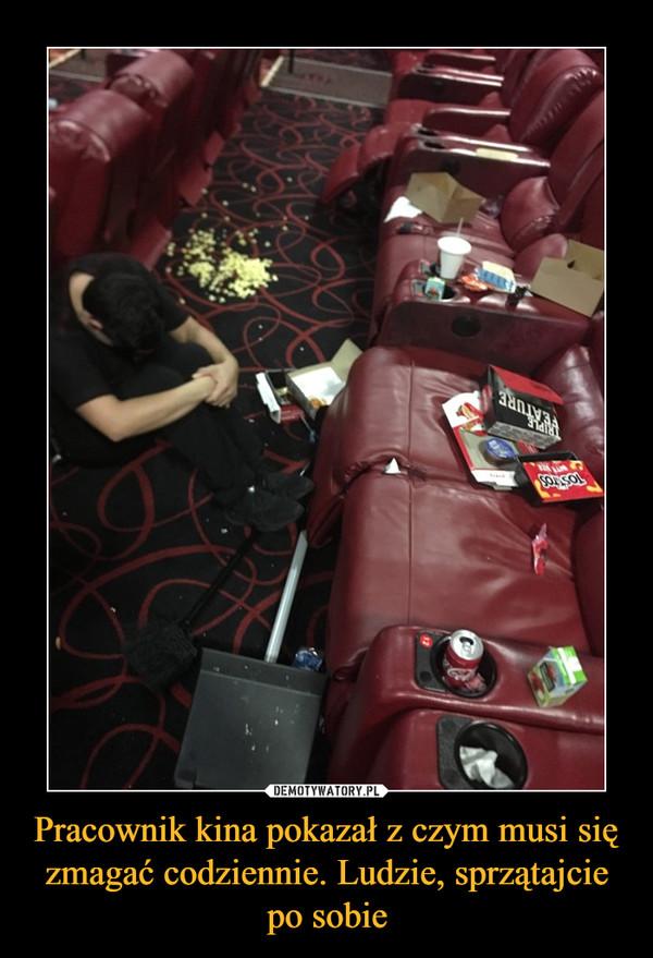 Pracownik kina pokazał z czym musi się zmagać codziennie. Ludzie, sprzątajcie po sobie –