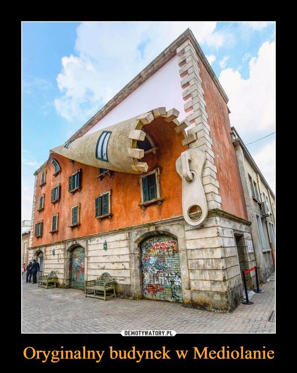 Oryginalny budynek w Mediolanie –
