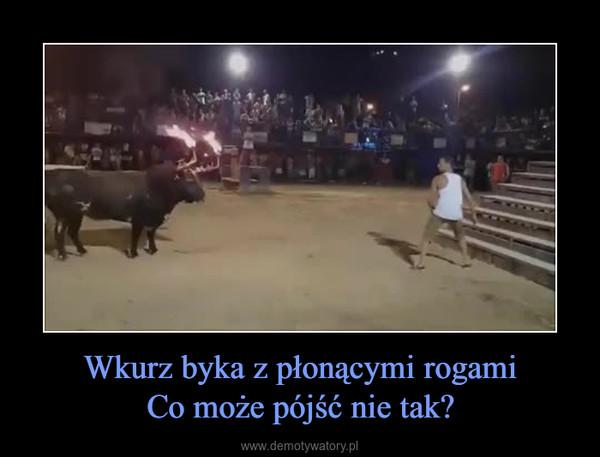 Wkurz byka z płonącymi rogamiCo może pójść nie tak? –