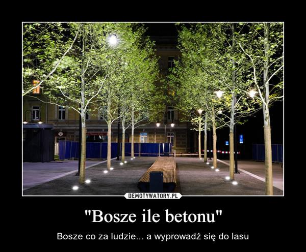 """""""Bosze ile betonu"""" – Bosze co za ludzie... a wyprowadź się do lasu"""