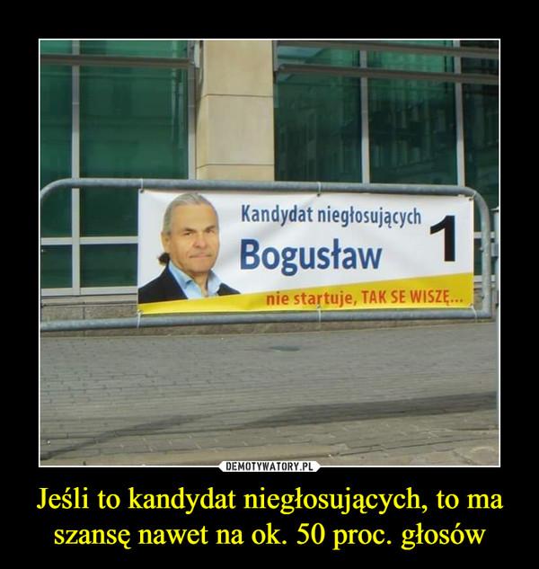 Jeśli to kandydat niegłosujących, to ma szansę nawet na ok. 50 proc. głosów –  Kandydat niegłosujących Bogusławnie startuje, TAK SE WISZĘ...