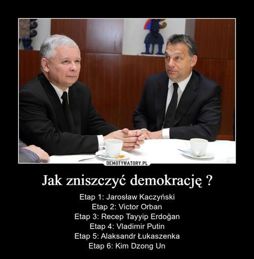 Jak zniszczyć demokrację ?