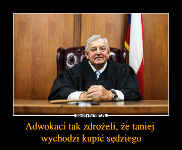 Adwokaci tak zdrożeli, że taniej wychodzi kupić sędziego –