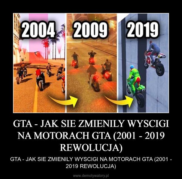 GTA - JAK SIE ZMIENILY WYSCIGI NA MOTORACH GTA (2001 - 2019 REWOLUCJA) – GTA - JAK SIE ZMIENILY WYSCIGI NA MOTORACH GTA (2001 - 2019 REWOLUCJA)