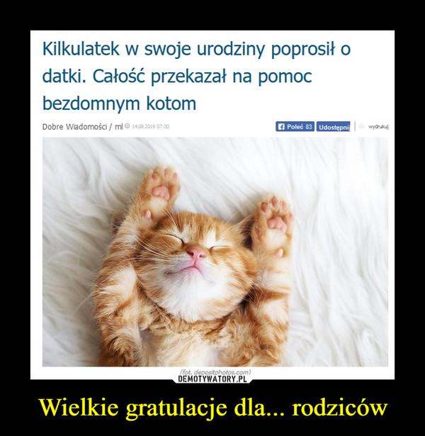 Wielkie gratulacje dla... rodziców –  Kilkulatek w swoje urodziny poprosił odatki. Całość przekazał na pomocbezdomnym kotom