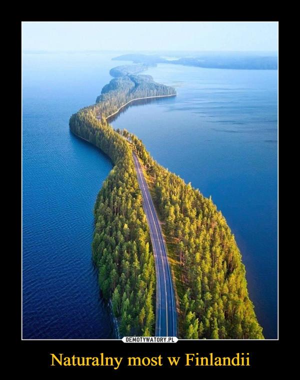 Naturalny most w Finlandii –