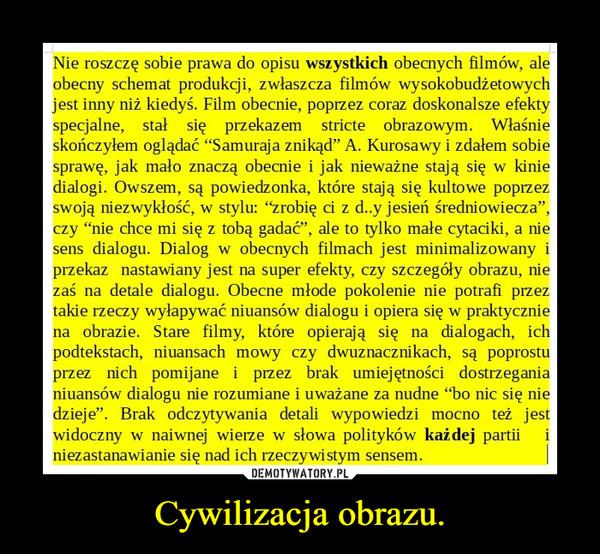 Cywilizacja obrazu. –