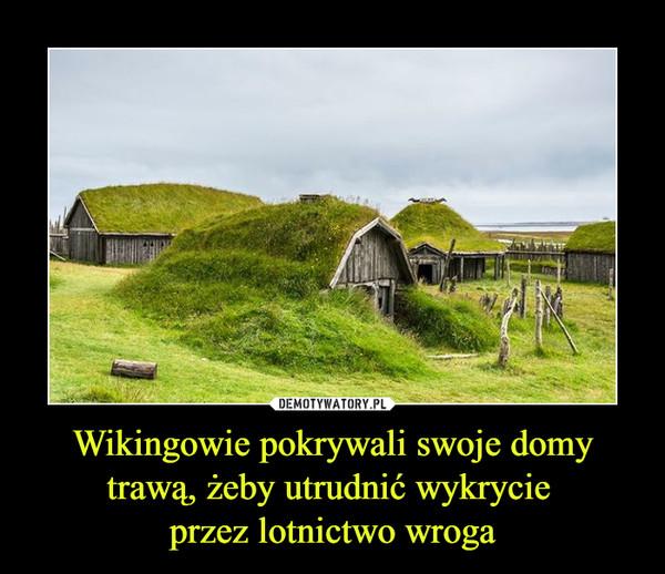Wikingowie pokrywali swoje domy trawą, żeby utrudnić wykrycie przez lotnictwo wroga –