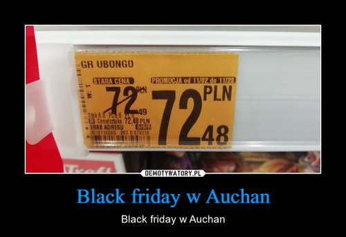 Black friday w Auchan
