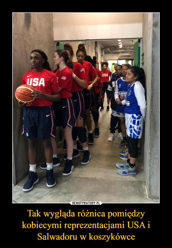 Tak wygląda różnica pomiędzy kobiecymi reprezentacjami USA i Salwadoru w koszykówce –