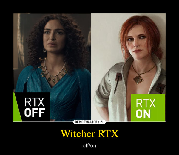 Witcher RTX – off/on