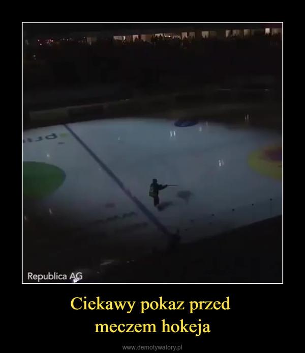 Ciekawy pokaz przed meczem hokeja –