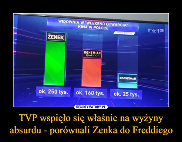 TVP wspięło się właśnie na wyżyny absurdu - porównali Zenka do Freddiego –