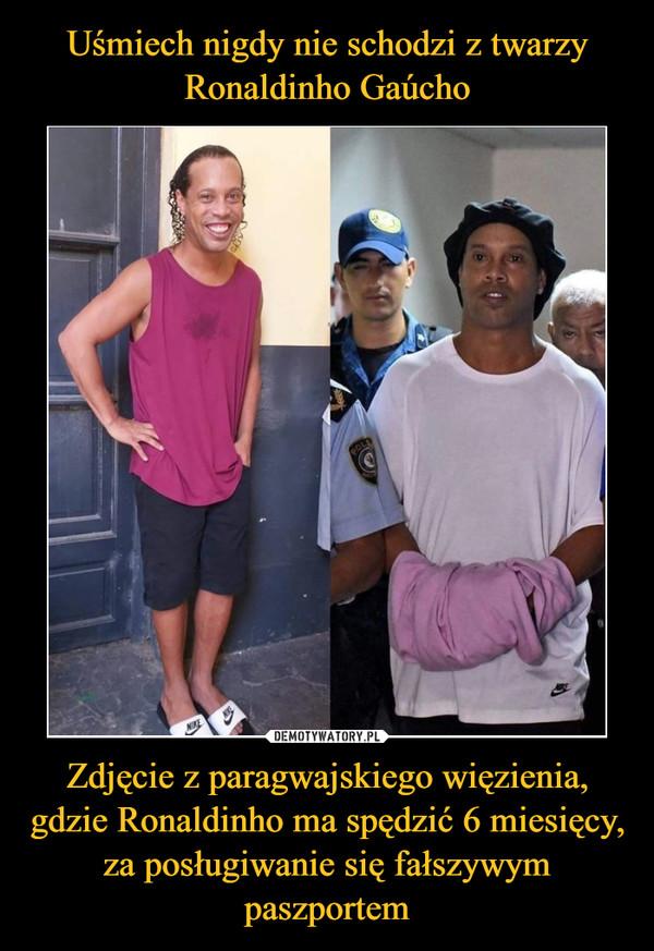 Zdjęcie z paragwajskiego więzienia, gdzie Ronaldinho ma spędzić 6 miesięcy, za posługiwanie się fałszywym paszportem –