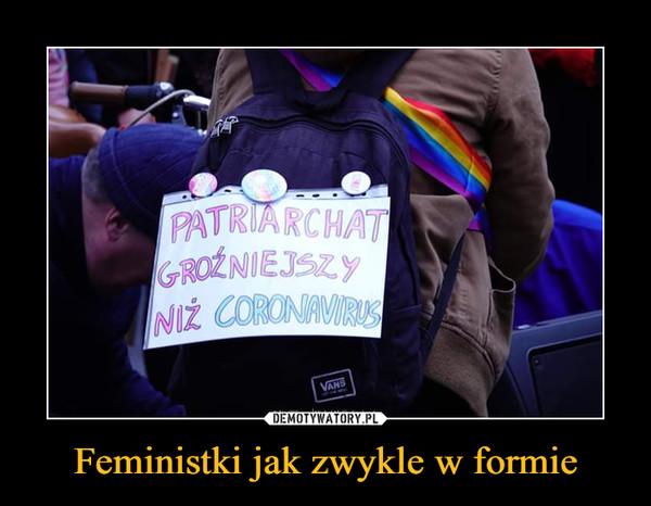 Feministki jak zwykle w formie –  PATRIARCHAT GROŹNIEJSZY NIŻ CORONAWIRUS