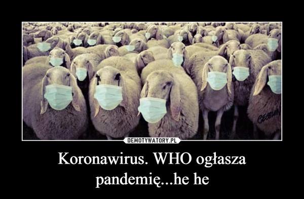 Koronawirus. WHO ogłasza pandemię...he he –