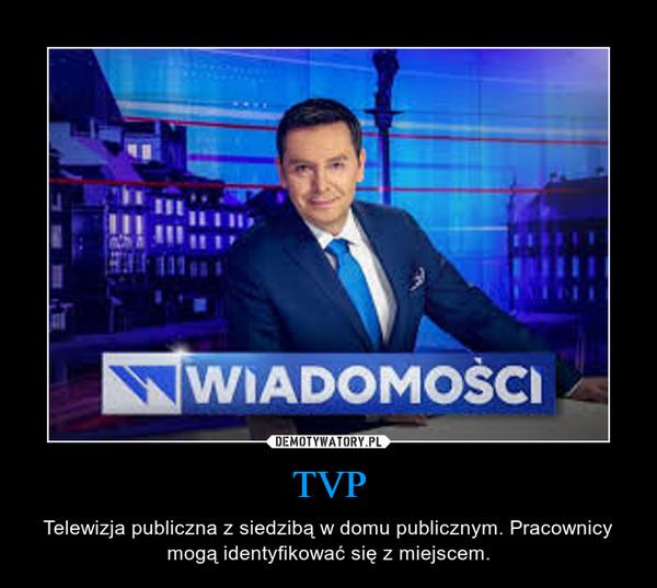 TVP – Telewizja publiczna z siedzibą w domu publicznym. Pracownicy mogą identyfikować się z miejscem.