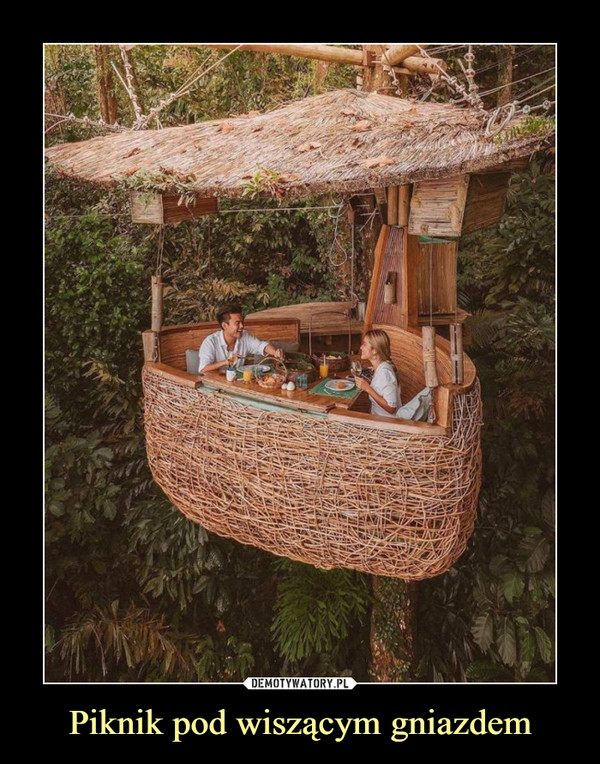 Piknik pod wiszącym gniazdem –