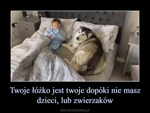 Twoje łóżko jest twoje dopóki nie masz dzieci, lub zwierzaków –