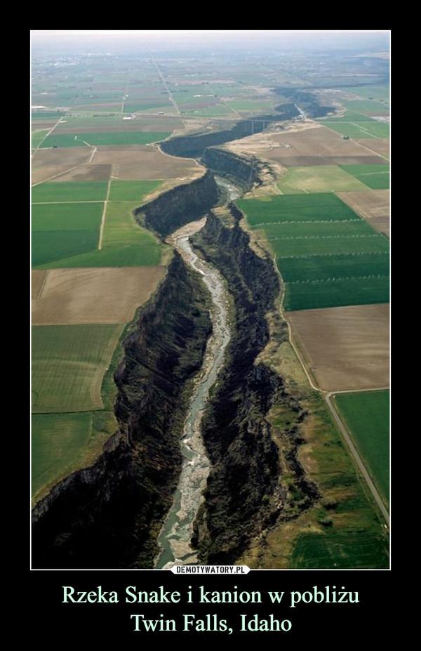 Rzeka Snake i kanion w pobliżuTwin Falls, Idaho –