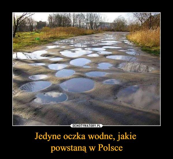 Jedyne oczka wodne, jakie powstaną w Polsce –