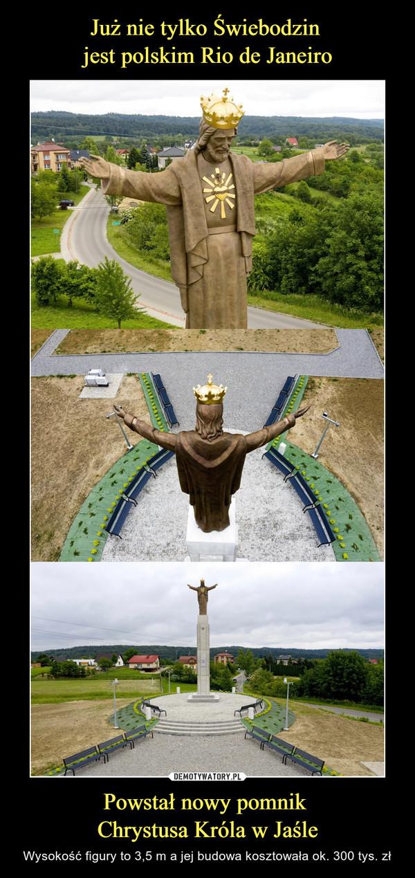 Powstał nowy pomnik Chrystusa Króla w Jaśle – Wysokość figury to 3,5 m a jej budowa kosztowała ok. 300 tys. zł