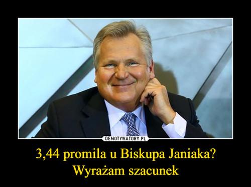 3,44 promila u Biskupa Janiaka? Wyrażam szacunek
