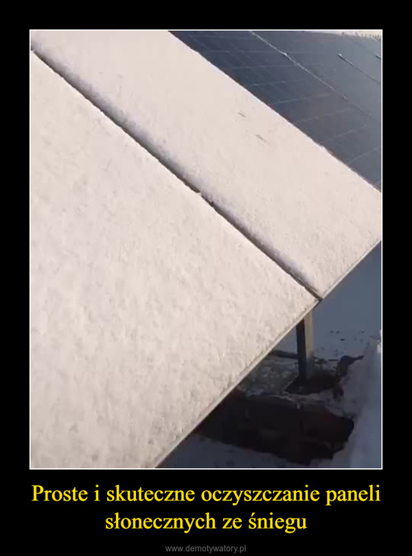 Proste i skuteczne oczyszczanie paneli słonecznych ze śniegu –