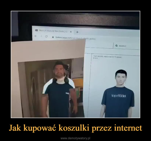 Jak kupować koszulki przez internet –
