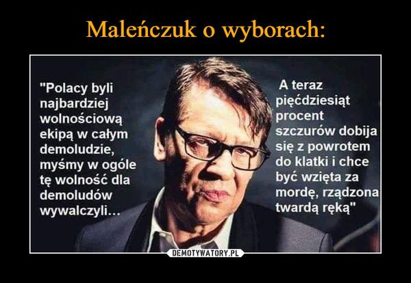 Maleńczuk o wyborach: