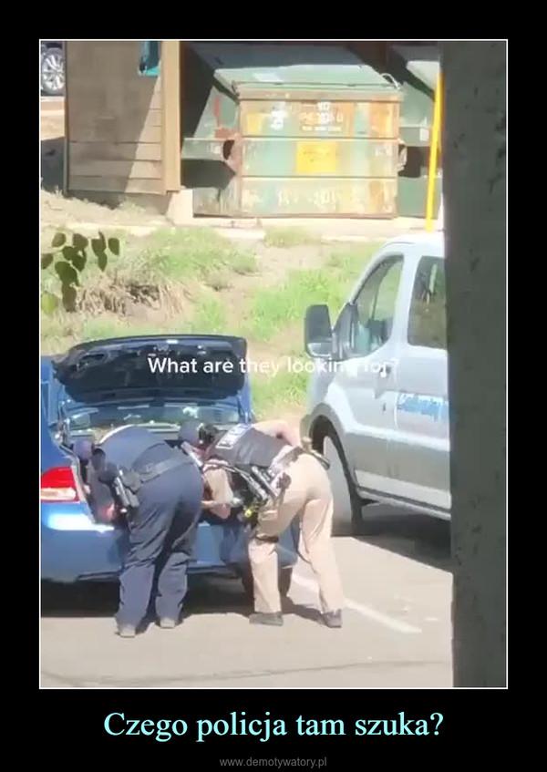 Czego policja tam szuka? –
