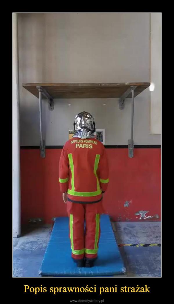 Popis sprawności pani strażak –
