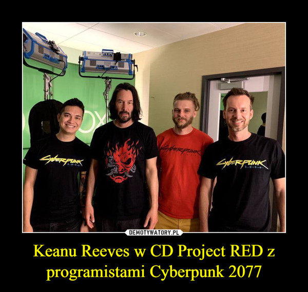 Keanu Reeves w CD Project RED z programistami Cyberpunk 2077 –