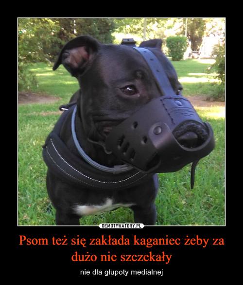 Psom też się zakłada kaganiec żeby za dużo nie szczekały