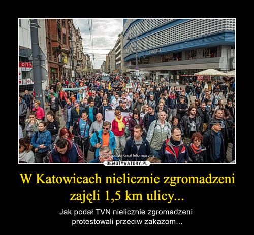 W Katowicach nielicznie zgromadzeni zajęli 1,5 km ulicy...
