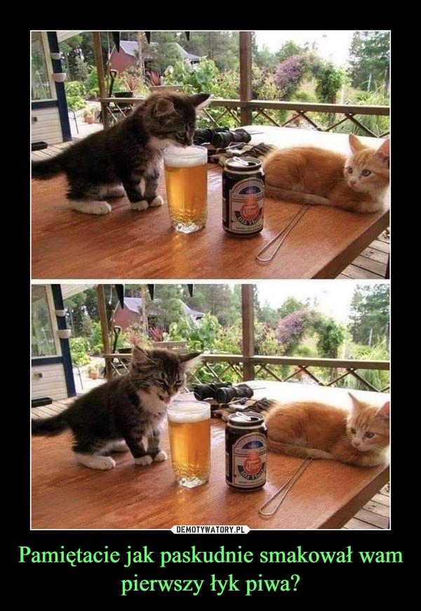 Pamiętacie jak paskudnie smakował wam pierwszy łyk piwa? –